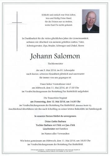 Johann Salomon