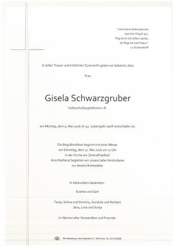 Gisela Schwarzgruber, Volksschulhauptlehrerin i.R.