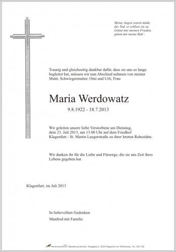 Maria Werdowatz