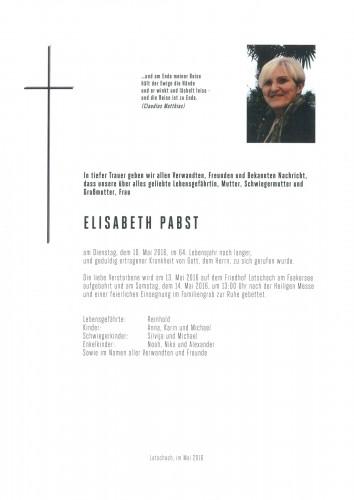 Elisabeth Pabst