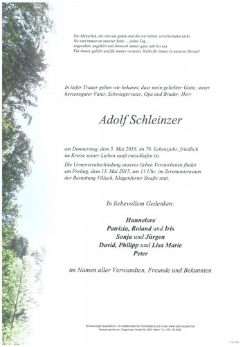 Adolf Schleinzer