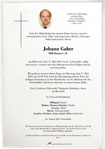 Johann Gaber