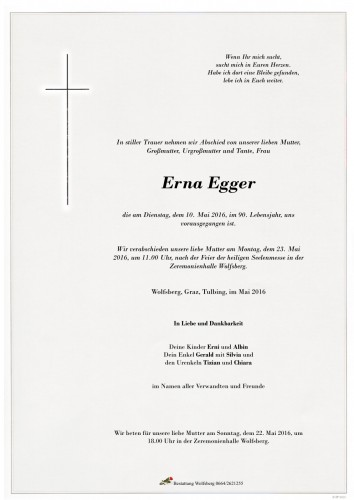 Erna Maria Egger