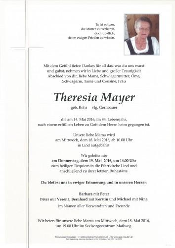 Theresia Mayer, vlg. Gernbauer