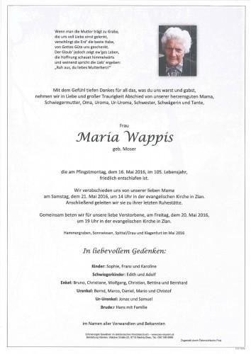 Maria Wappis, geb. Moser
