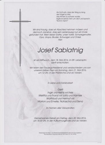 Josef Sablatnig