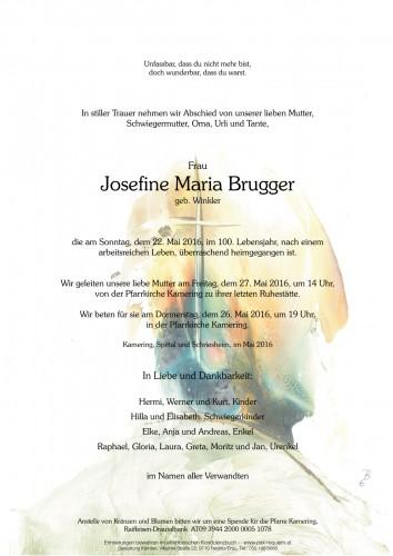 Josefine Maria Brugger