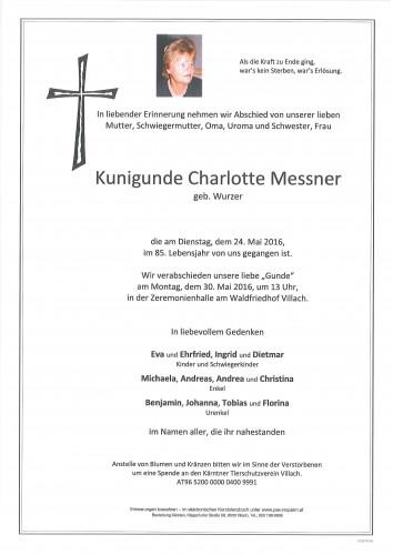 Kundigunde Charlotte Messner