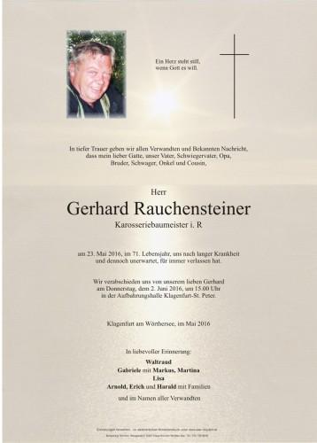 Gerhard Rauchensteiner