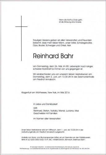 Reinhard Bahr
