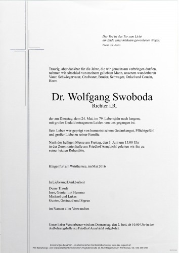 Dr. Wolfgang Swoboda