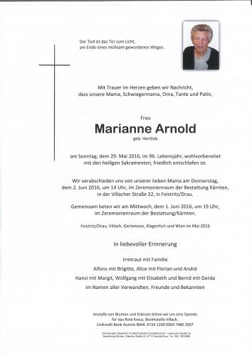 Marianne Arnold geb. Hartlieb