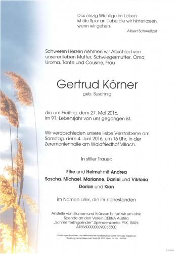 Gertrud Körner geb. Suschnig