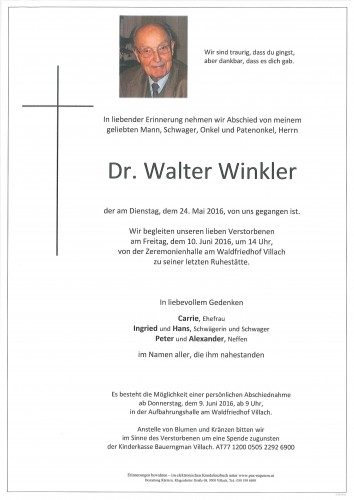 Dr. Walter Winkler