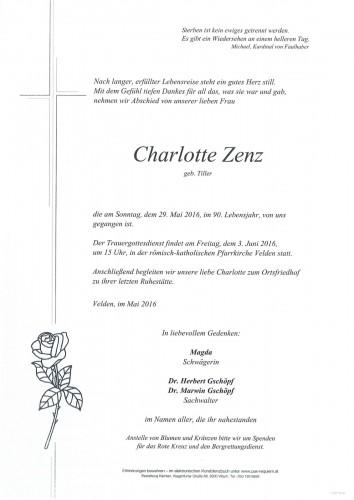 Charlotte Zenz geb. Tiller
