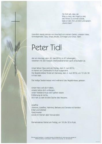Peter Tidl