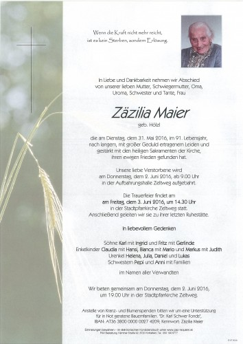 Zäzilia Maier