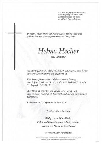 Helma Hecher geb. Gerstmayr