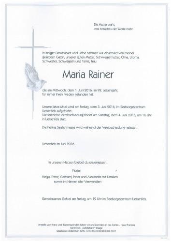 Maria Rainer