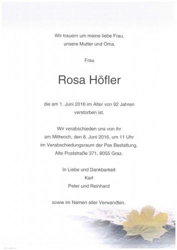 Rosa Höfler