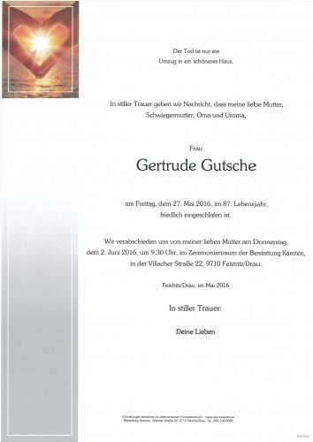 Gertrude Gutsche