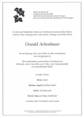 Oswald Achenbauer