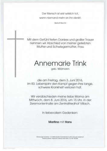 Annemarie Trink geb. Widmann