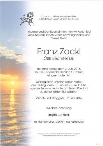 Franz Zackl