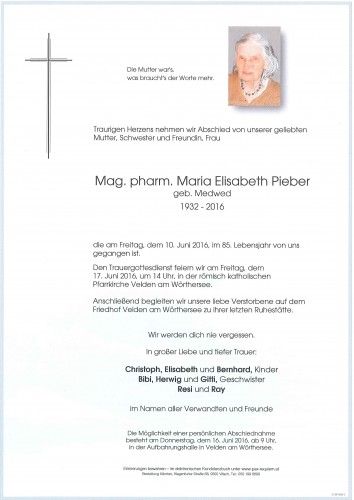 Mag. pharm. Maria Elisabeth Pieber
