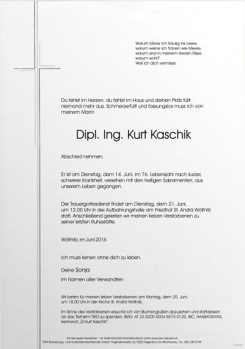 Dipl. Ing. Kurt Kaschik