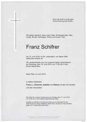 Franz Schifrer