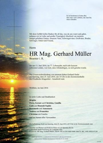 Mag. Gerhard Müller