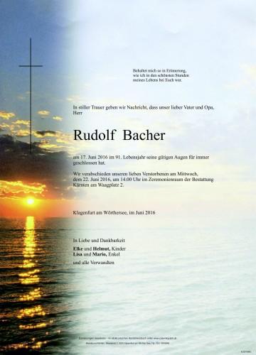 Rudolf Bacher