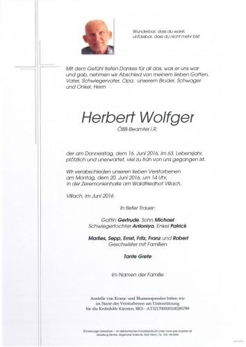 Herbert Wolfger
