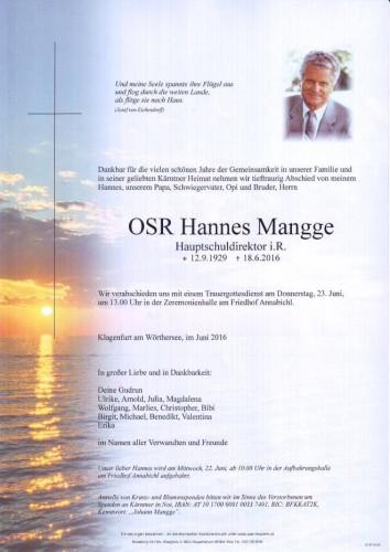 OSR Johann Mangge
