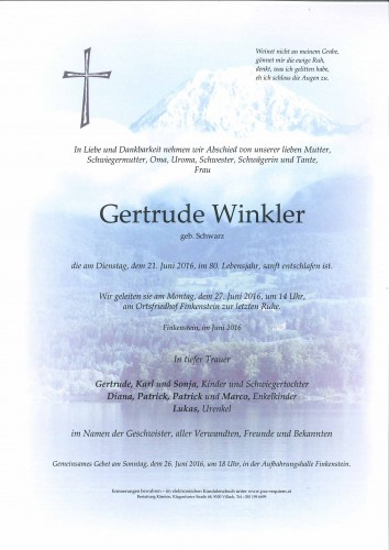 Gertrude Winkler