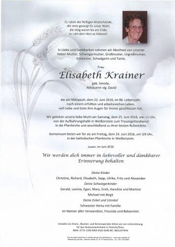 Elisabeth Krainer, geb. Smode