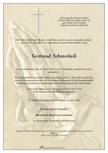 Gertraud Schmerlaib