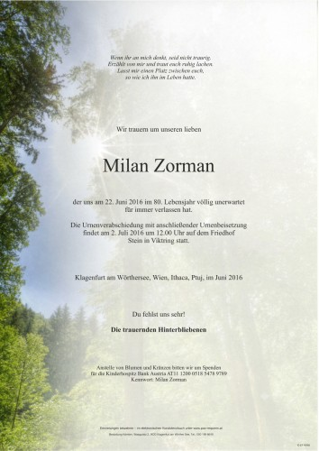 Emil Milan Zorman
