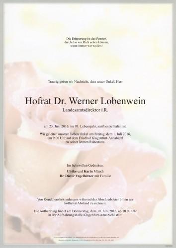 Dr. Werner Lobenwein