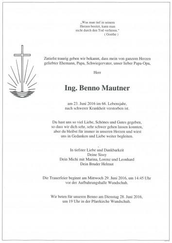 Ing. Benno Mautner