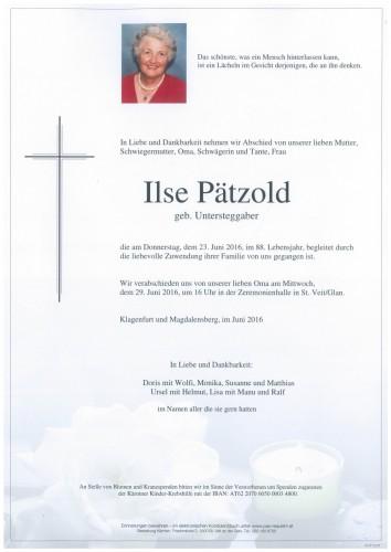 Ilse Pätzold  geb. Untersteggaber