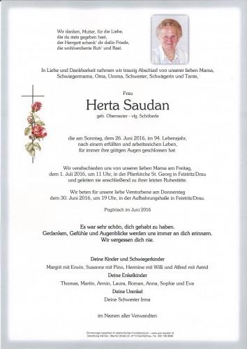 Herta Saudan geb. Oberrauter