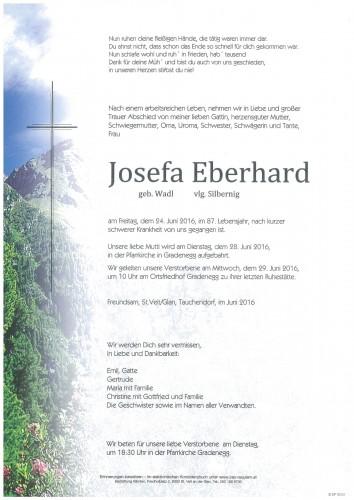 Josefa Eberhard vlg. Silbernig