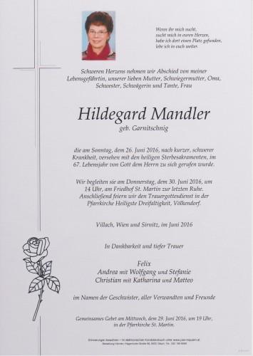 Hildegard Mandler