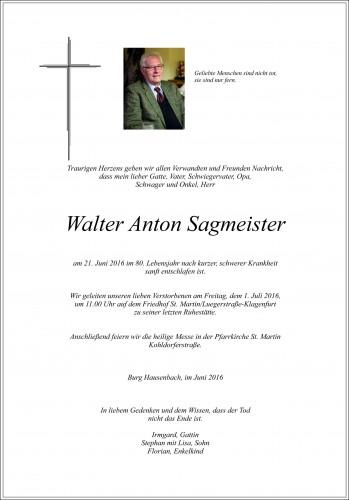 Walter Anton Sagmeister