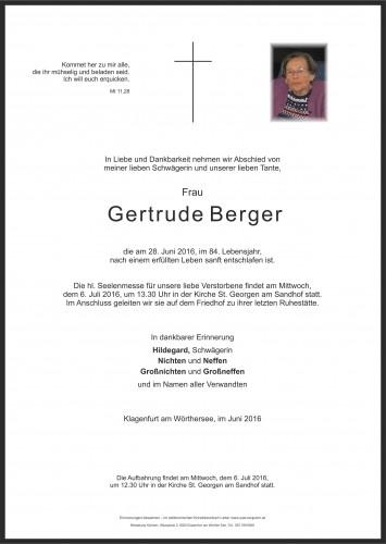 Gertrude Berger