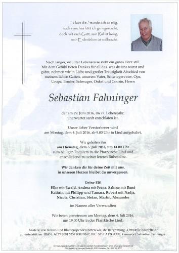 Sebastian Fahninger