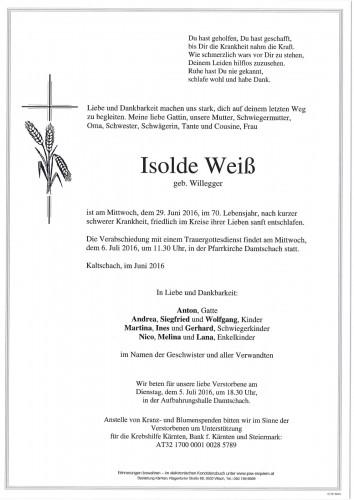 Isolde Weiß geb. Willegger
