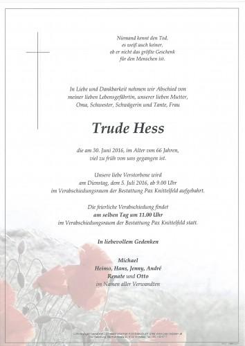 Trude Hess